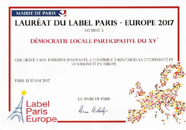 En 2017, notre projet UE Lib visant à promouvoir la littérature Européenne et le rapprochement entre les ressortissants Européens de Paris, fut récompensé du Label Paris Europe