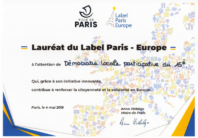 En 2019, UE Lib fut à nouveau labélisé Paris Europe